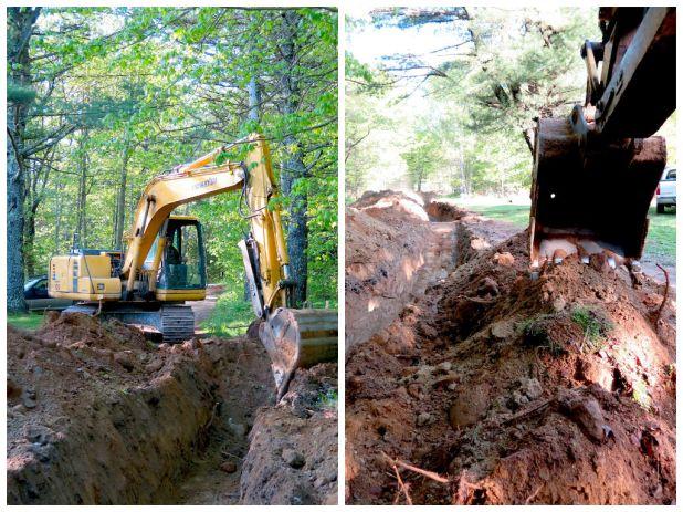 Excavator claw Maine